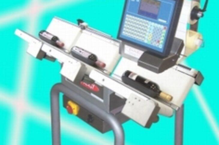 3-х конвейерная автоматическая взвешивающая этикетирующая машина для продуктов спец формы